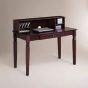 Walnut Brown Douglas Desk with Hutch