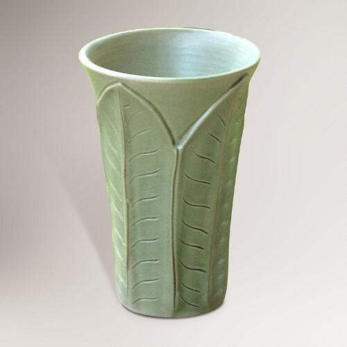 Novica Forest Leaves Ceramic Vase