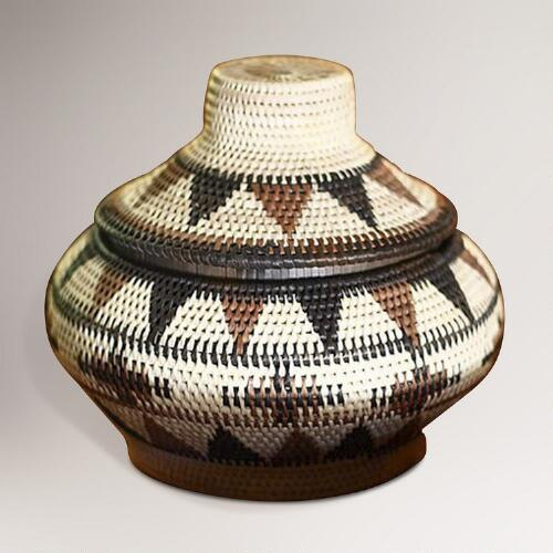 Novica Fantasy Palm Leaf Basket