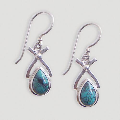 Novica Temptations Turquoise Dangle Earrings