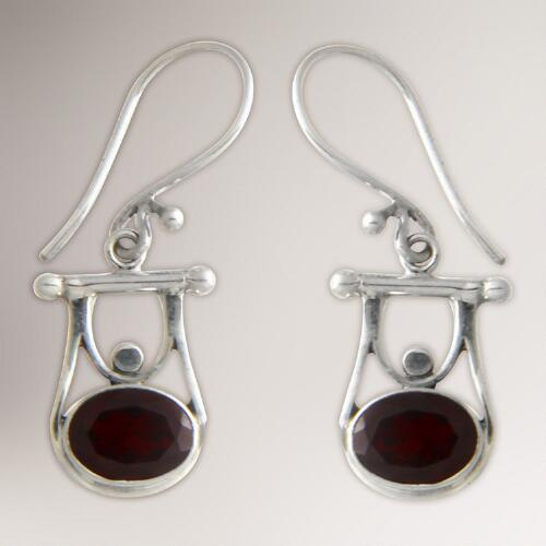Novica Honor Garnet Dangle Earrings