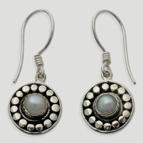 Novica Sunny Day Pearl Dangle Earrings