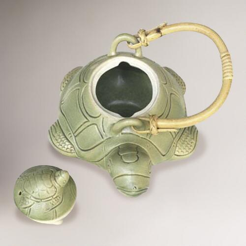 Novica Turtle Mom Ceramic Teapot