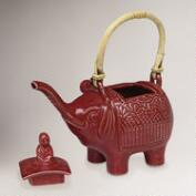 Novica Buddha and the Ruby Elephant Ceramic Teapot