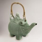 Novica Buddha and the Jade Elephant Ceramic Teapot