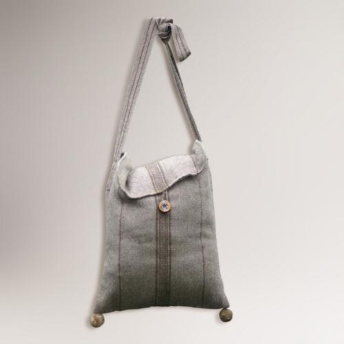Novica Earth Magic Alpaca Wool Shoulder Bag