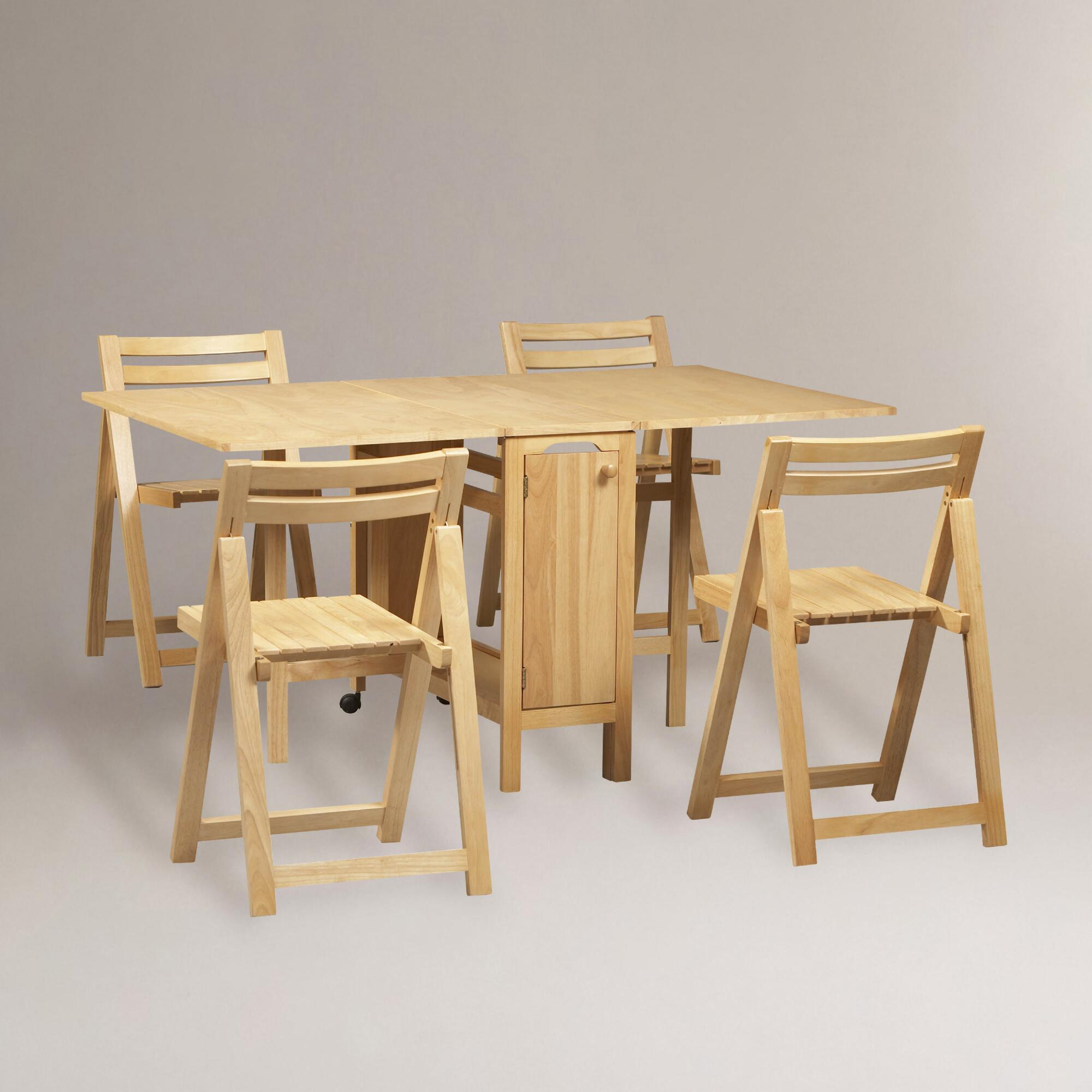 Natural Lawson Space Saver Table & Chair Set | World Market
