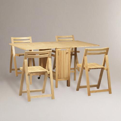 Natural Lawson Space Saver Table & Chair Set