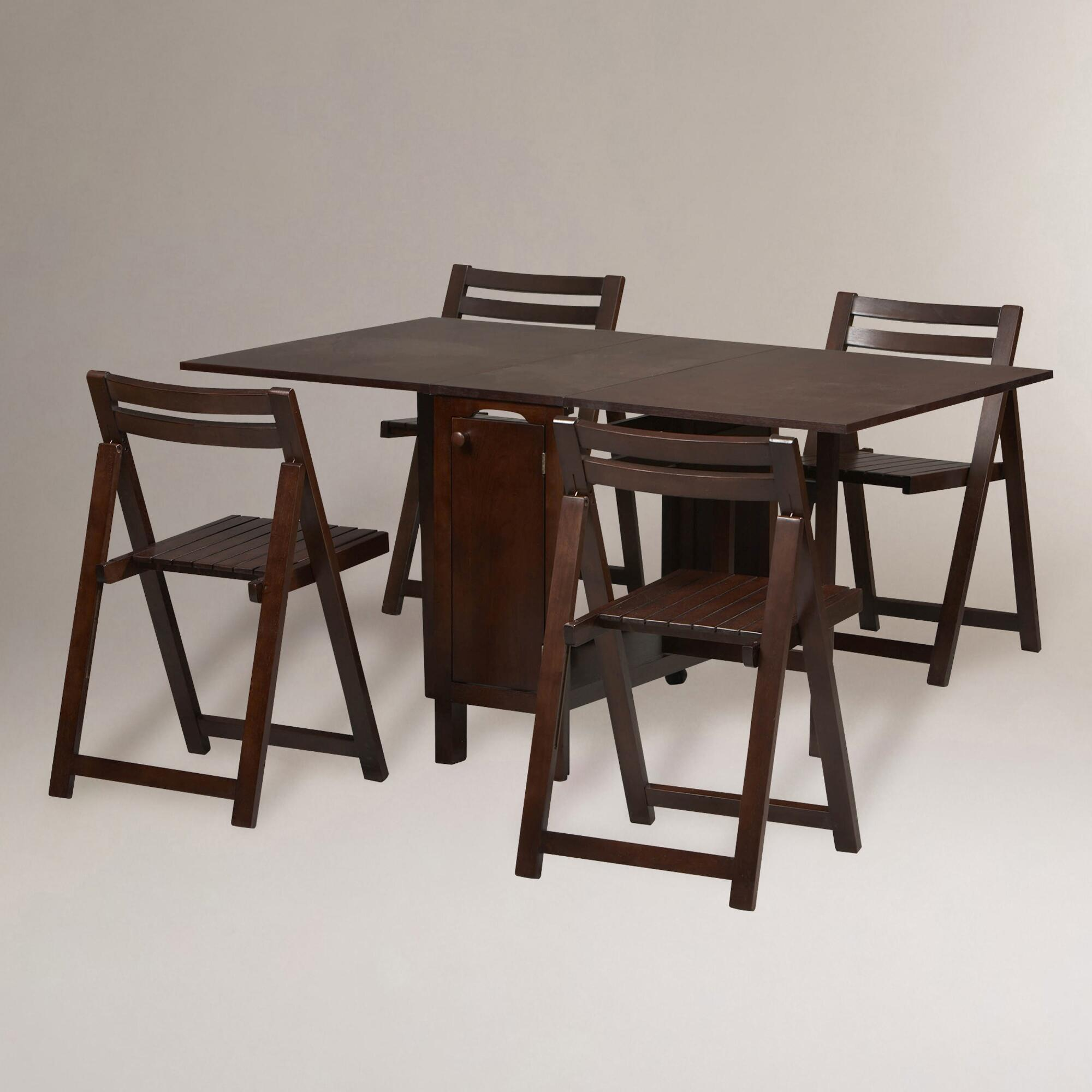 Space saving dining tables wenge minima simple aluminium dining table - Wenge Lawson Space Saver Table Amp Chair Set World Market Download