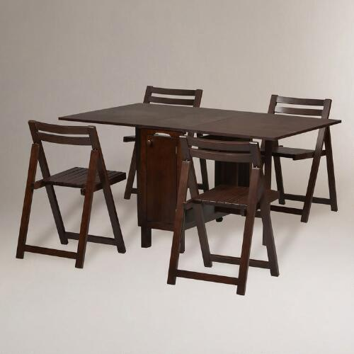 Wenge Lawson Space Saver Table & Chair Set