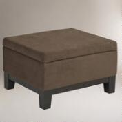 Walnut Baldwin Easy Storage Ottoman