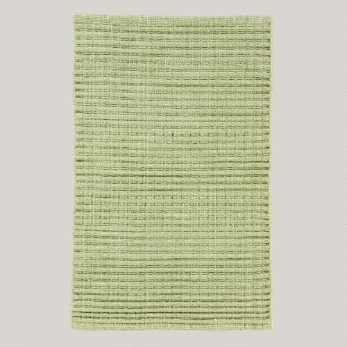 Chunky Woven Cotton Rug, Green