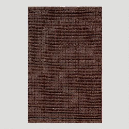Chunky Woven Cotton Rug, Stone