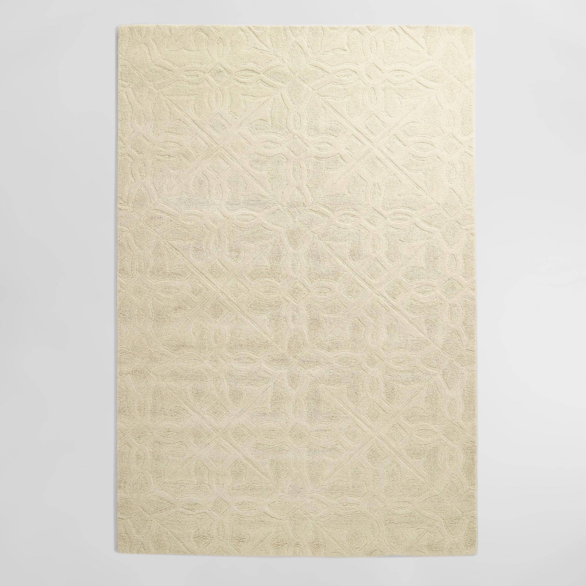 Ivory Classic Carved Wool Rug World Market