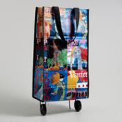 Folding Travel Tote Bag with Wheels