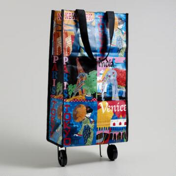 Travel Tote with Folding Wheels