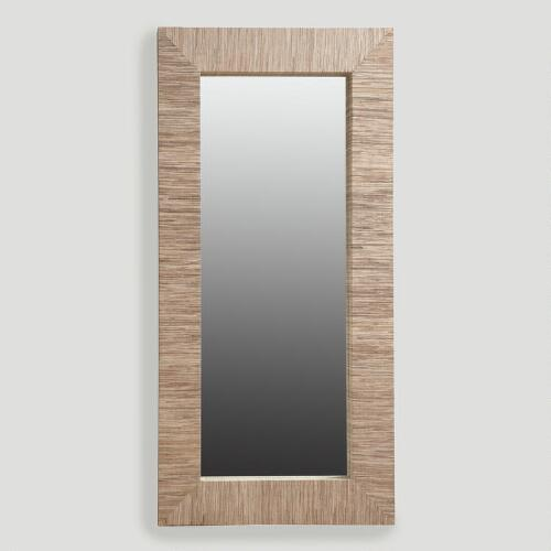Water Hyacinth Mirror, Oversized