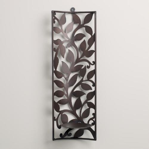 Sconce with Leaf Cutout