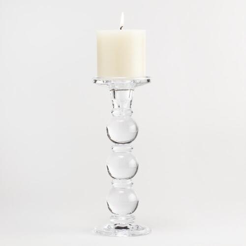 Capri Glass Pillar Candleholders
