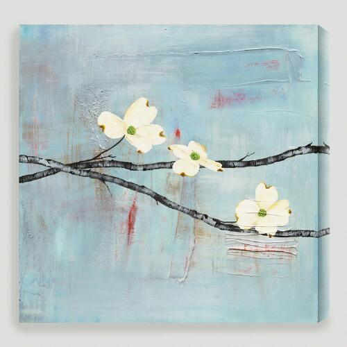"""Dogwood on Blue II"" by Laura Gunn"