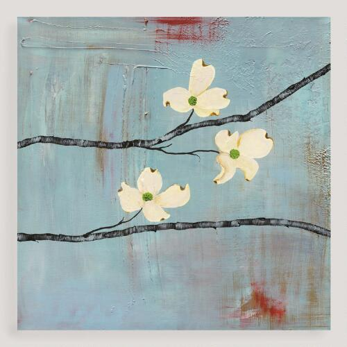 """Dogwood on Blue III"" by Laura Gunn"
