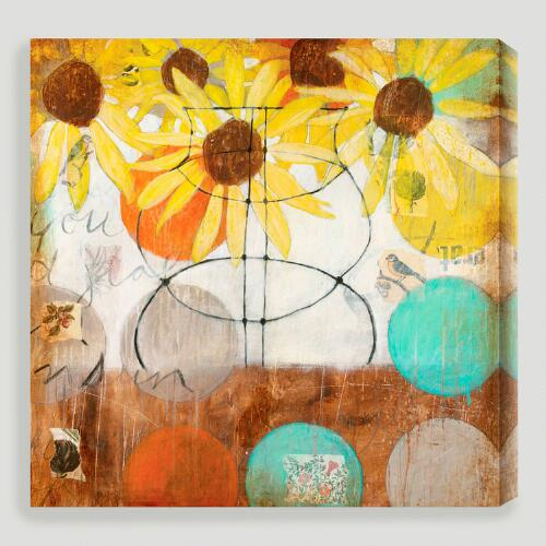 """Flowers & Circles II"" by Judy Paul"