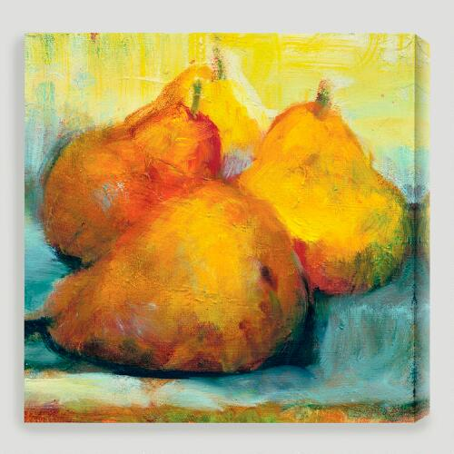 """Sun Bathing Pears"" by Sylvia Angeli"