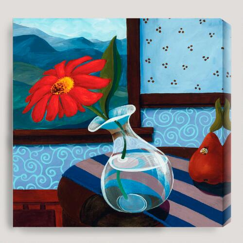 """Still Life with Red Flower"" by Susie Webster"