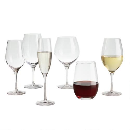Connoisseur Crystal Burgundy Glasses Set of 6