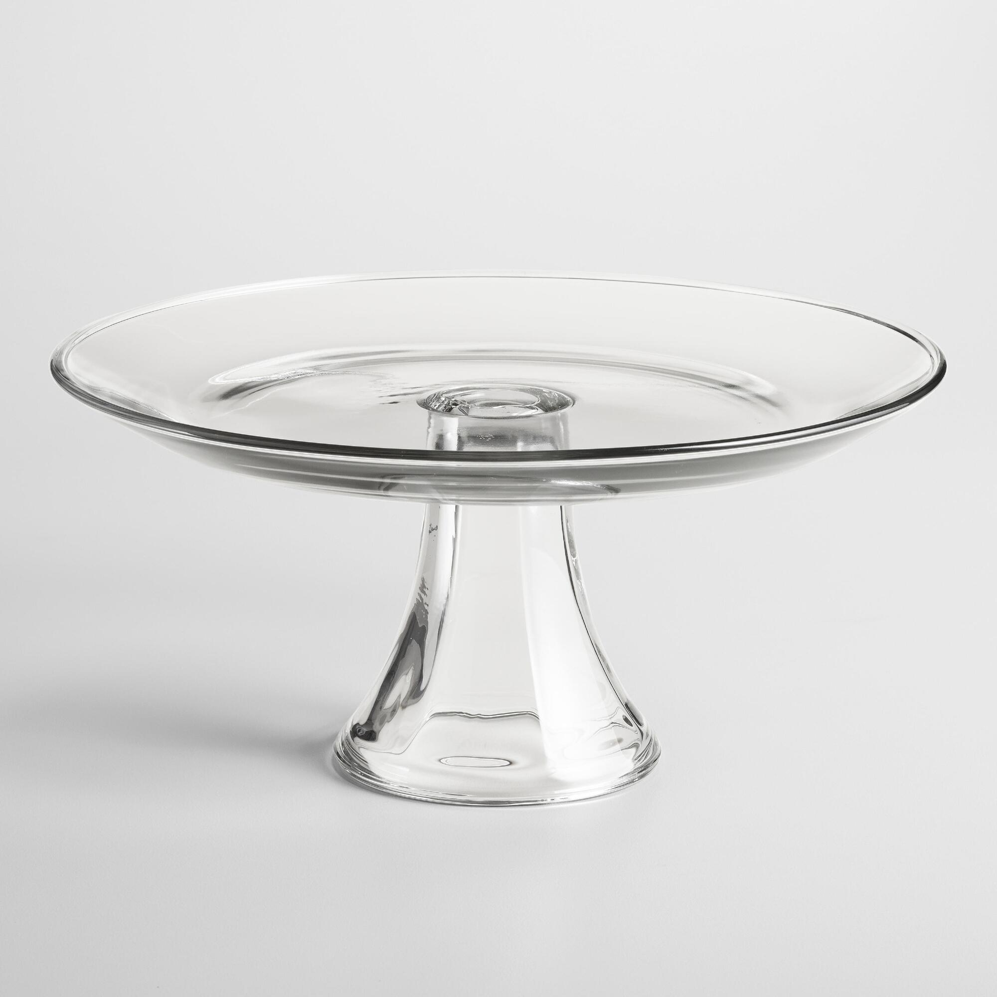 Clear Cake Plate Stand