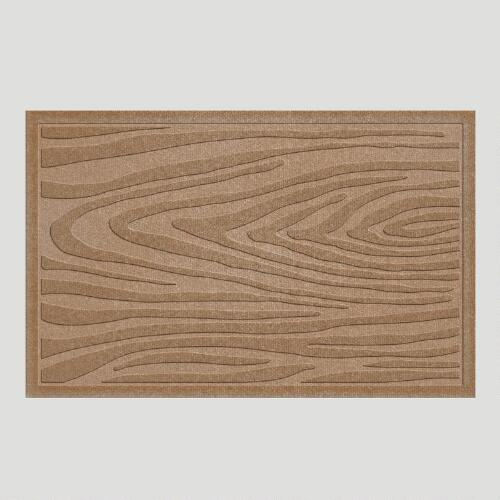 Medium Brown Wood Grain WaterGuard Doormat