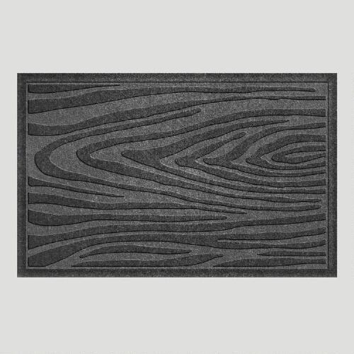 Charcoal Wood Grain WaterGuard Doormat