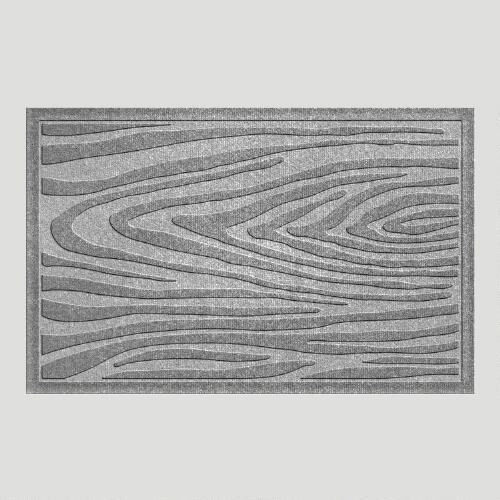 Gray Wood Grain WaterGuard Doormat