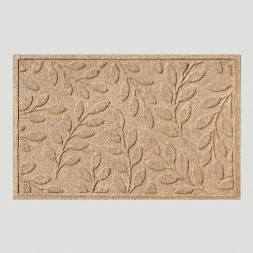 Medium Brown Leaf WaterGuard Doormat