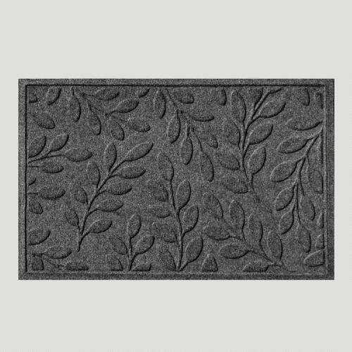 Charcoal Leaf WaterGuard Doormat