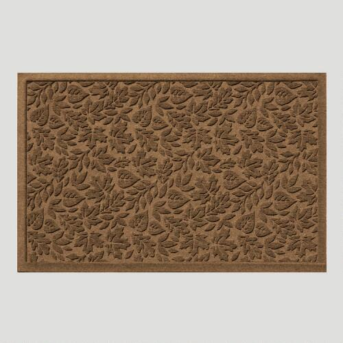 Dark Brown Fall Leaves WaterGuard Doormat