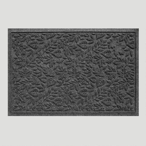Charcoal Fall Leaves WaterGuard Doormat