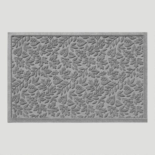 Gray Fall Leaves WaterGuard Doormat