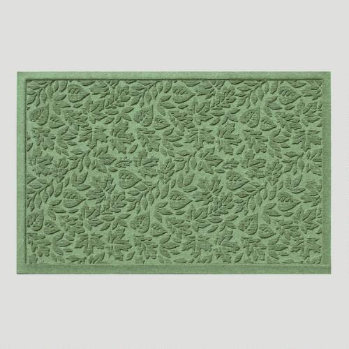 Light Green Fall Leaves WaterGuard Doormat