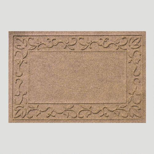 Vine Border WaterGuard Doormat, Medium Brown