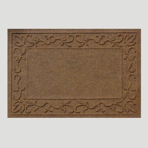 Brown Vine Border WaterGuard Doormat