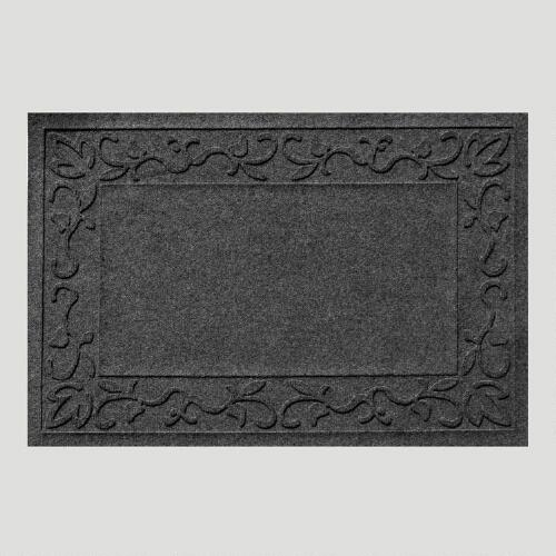 Charcoal Vine Border WaterGuard Doormat