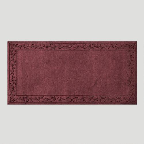Vine Border WaterGuard Doormat, Bordeaux