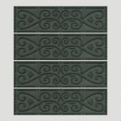 Evergreen Scroll WaterGuard Stair Treads, Set of 4