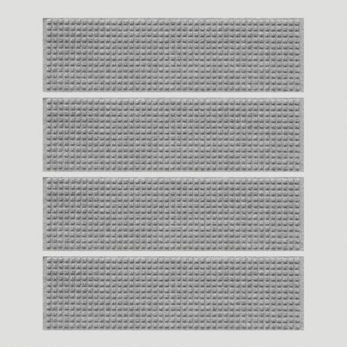 Gray Squares WaterGuard Stair Treads, Set of 4