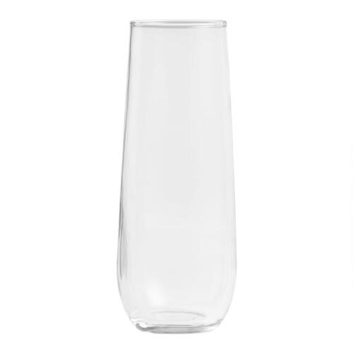 Stemless Champagne Flutes, Set of 4