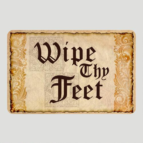 Wipe Thy Feet Cushioned Floor Mat