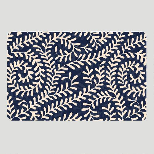 Blue Alexandra Cushioned Floor Mat