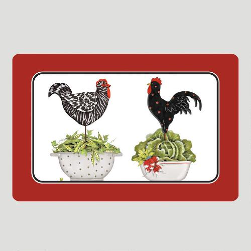 Chicken in Colander Cushioned Floor Mat