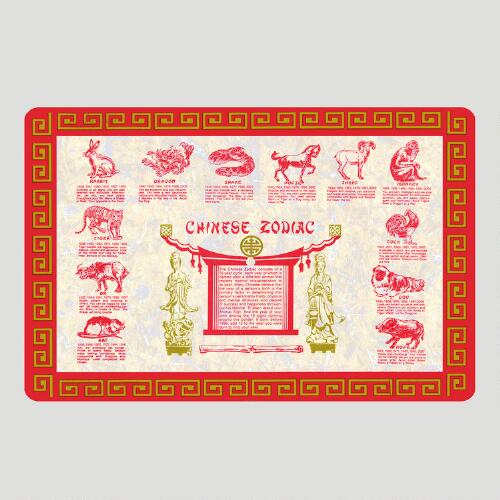 Chinese Zodiac Cushioned Floor Mat